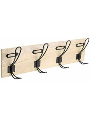 4 knobs wall coat rack