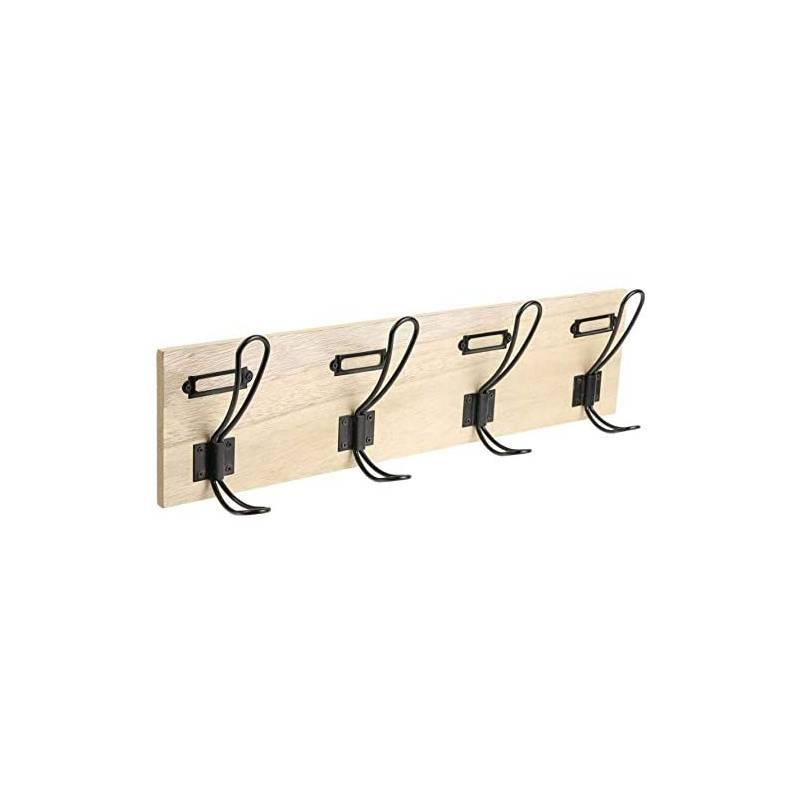4 knobs wall coat rack