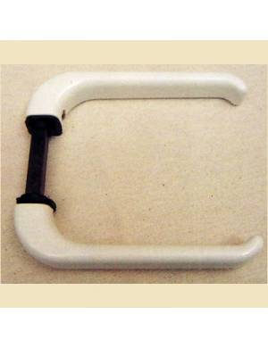 WHITE BALCONY DOOR HANDLE