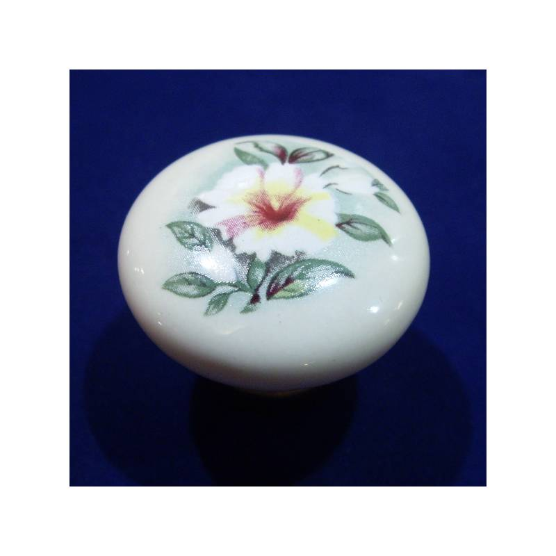 VERGES 9771 831 BRONZE AND IVORY PORCELAIN KNOB