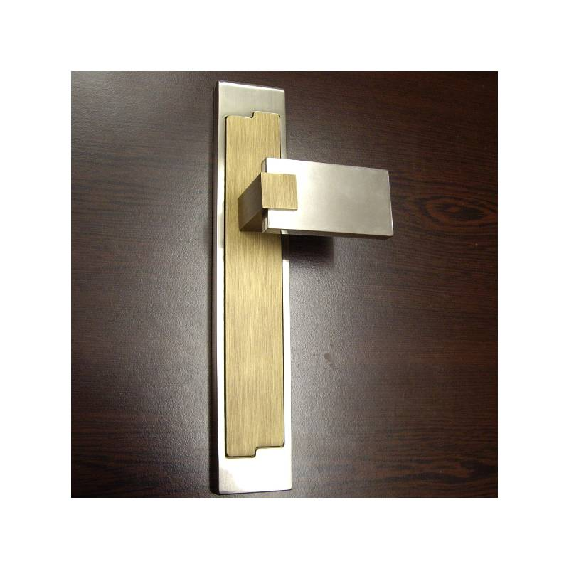 H.RAMOS 4827 MATT NICKEL LEATHER DOOR HANDLE