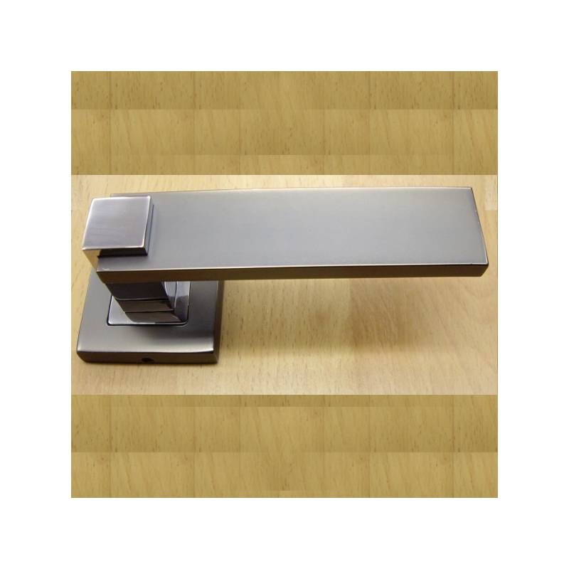 H.RAMOS 54T4 GLOSS CHROME ANTHRACITE SQUARE DOOR HANDLE