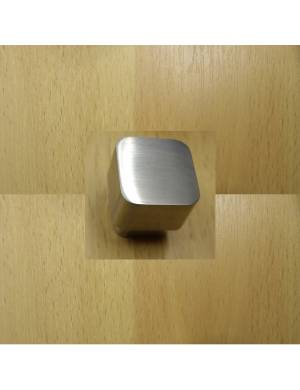 I. GALLEGAS 24 MM. STAINLESS STEEL SQUARE 873 KNOB