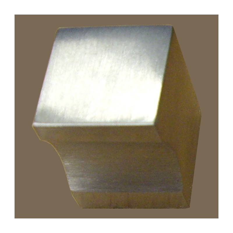 H.JIMENEZ 20 MM STAINLESS STEEL CUBE KNOB