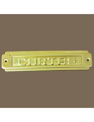 ABIFER BRASS R-74 LETTER PLATE