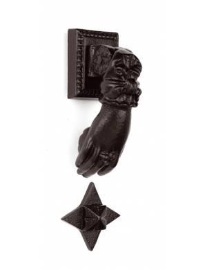 ESTRELLA BLACK EPOXI BRASS HAND KNOCKER 140