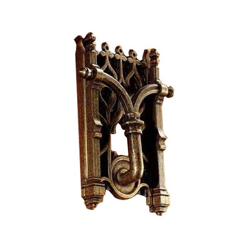 ESTRELLA AGED BRONZE PAPIRO DOOR KNOCKER
