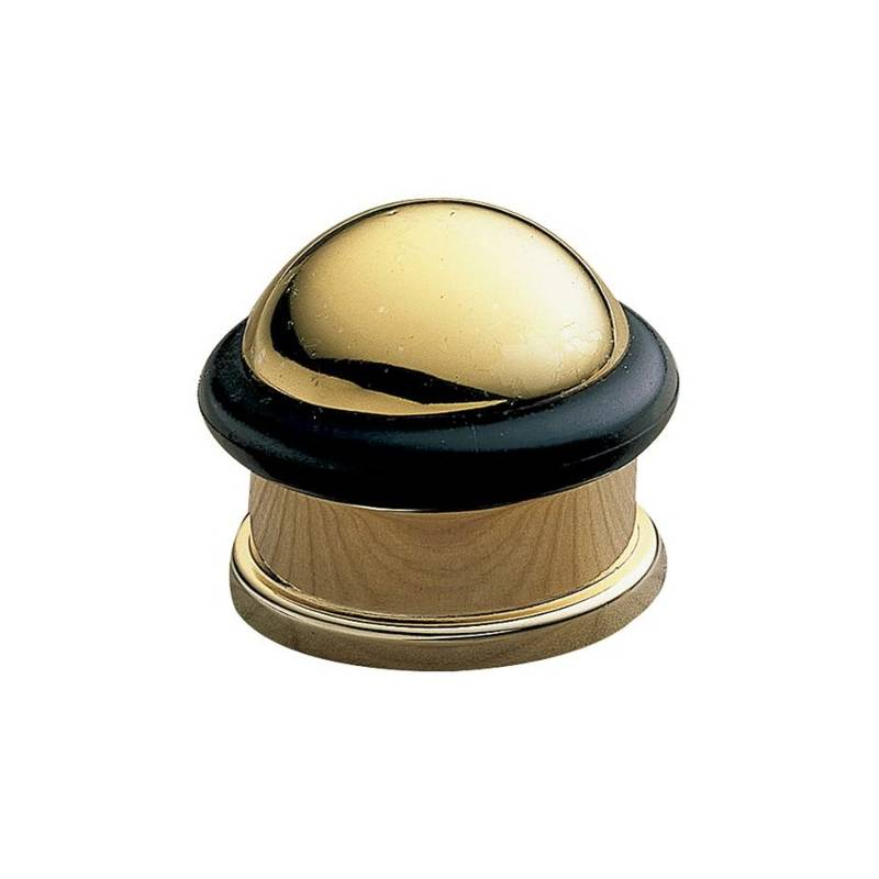 AMIG 200-30 GOLDEN DOORSTOP, BLACK RUBBER