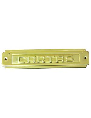 ABIFER PLACA CARTA R-74 LATON