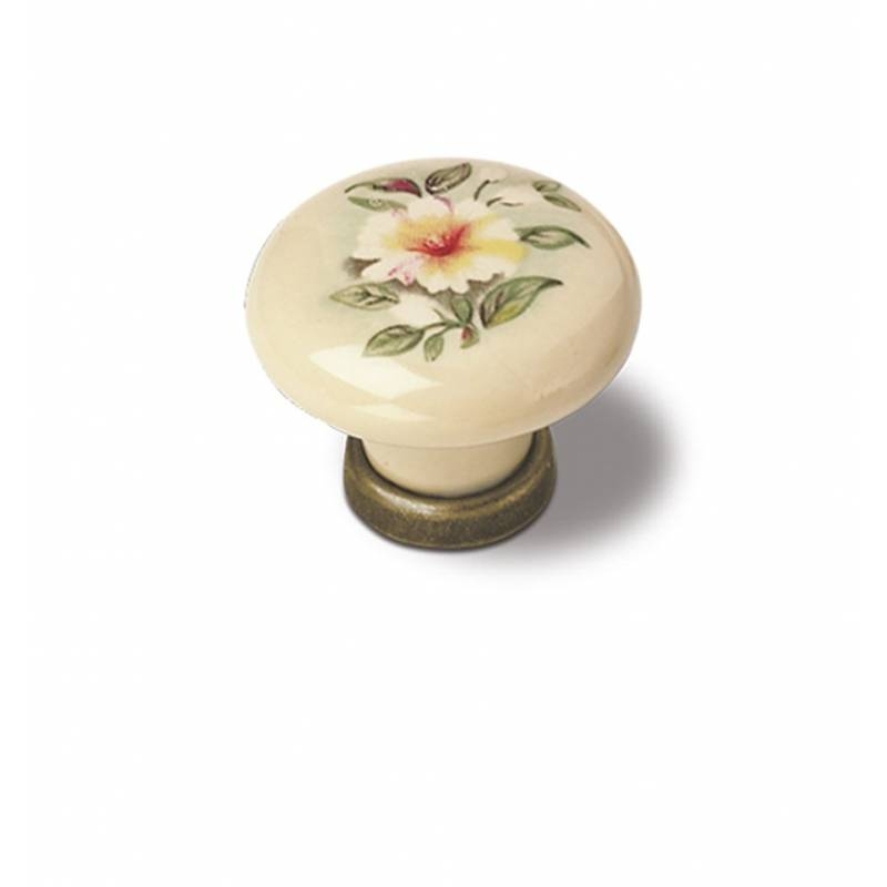 VERGES 9772 831 BRONZE AND IVORY PORCELAIN KNOB