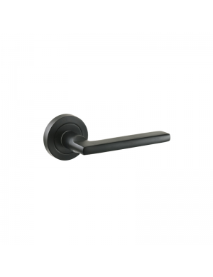 JANDEL BLACK ROUND PLAQUE DOORHANDLE