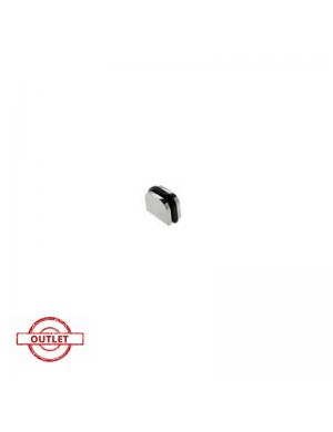 NESU BLACK METHACRYLATE AND POLISHED CHROME DECO KNOB 28 MM