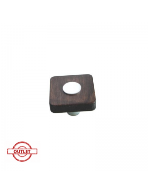 NESU 429 34 WENGE-MATT CHROME SQUARE KNOB