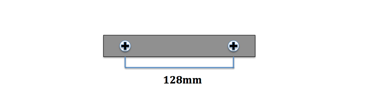 Googd value 96mm distance between screws furniture handles