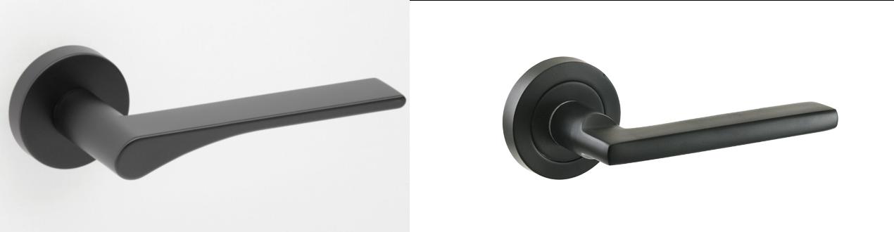 Black door handles